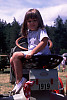 Kayla on Tractor
